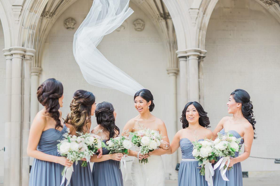 Bridesmaids_Veil_Wind_University_of_Toronto_Liberty_Grand_Wedding_Photos-Rhythm_Photography
