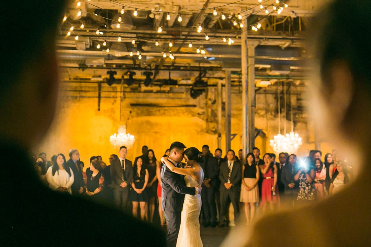 Distillery District Fermenting Cellar Candle Lit Toronto Wedding Photography