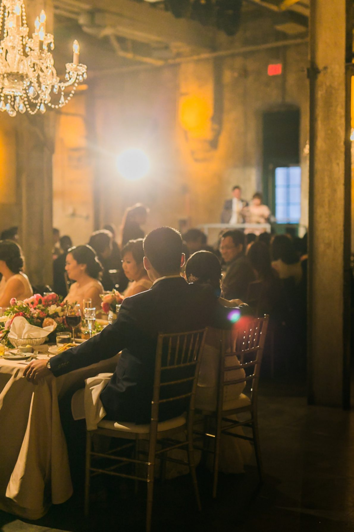 Speeches Distillery District Fermenting Cellar Candle Lit Toronto Wedding Photography