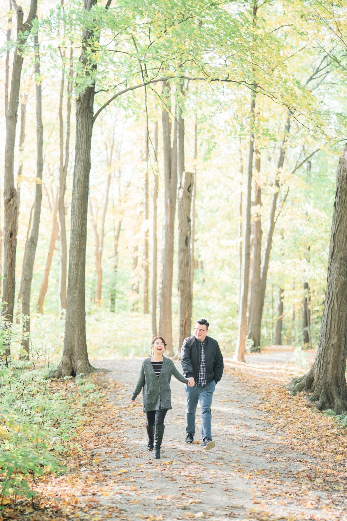 Happy_Couple_Toronto_Earl_Bales_Park_Forest_Fall_Engagement_Photos-Rhythm_Photography