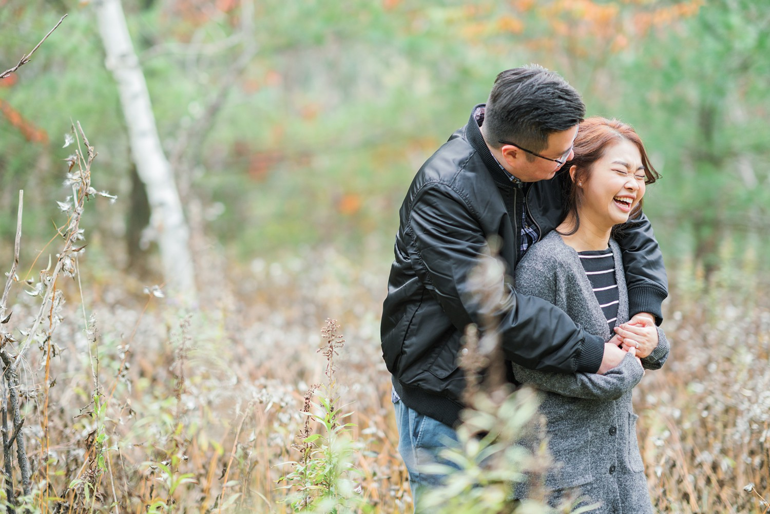 Candid_Photos_Toronto_Earl_Bales_Park_Forest_Fall_Engagement_Photos-Rhythm_Photography