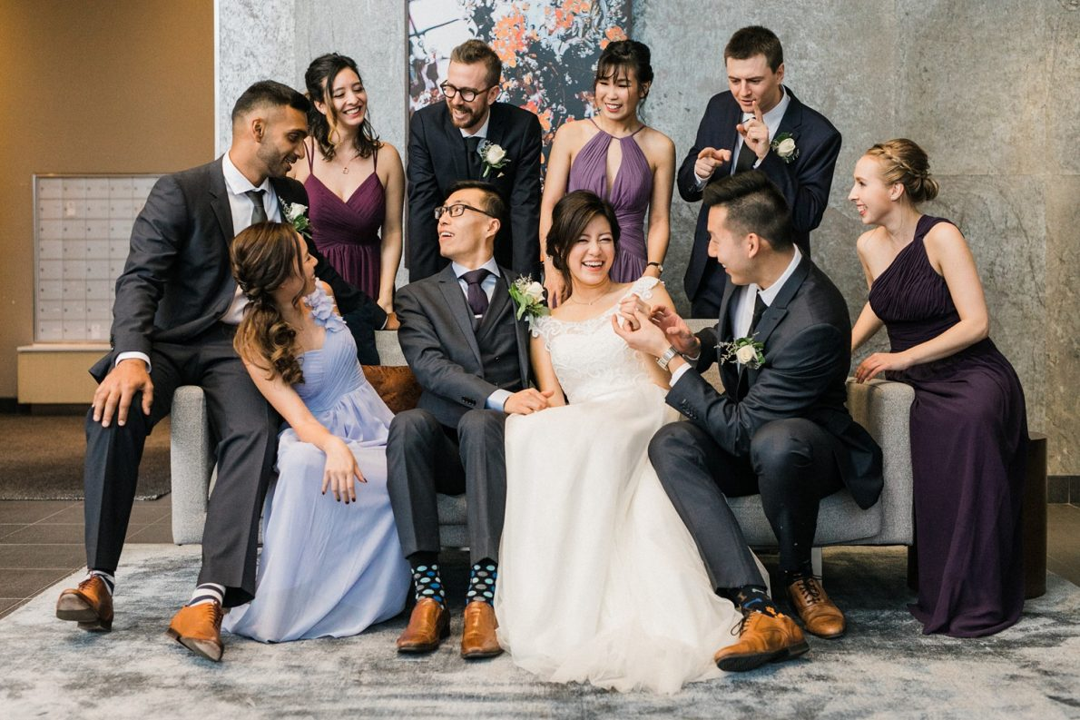 Wedding Party at Concord City Place Toronto Wedding Photographer