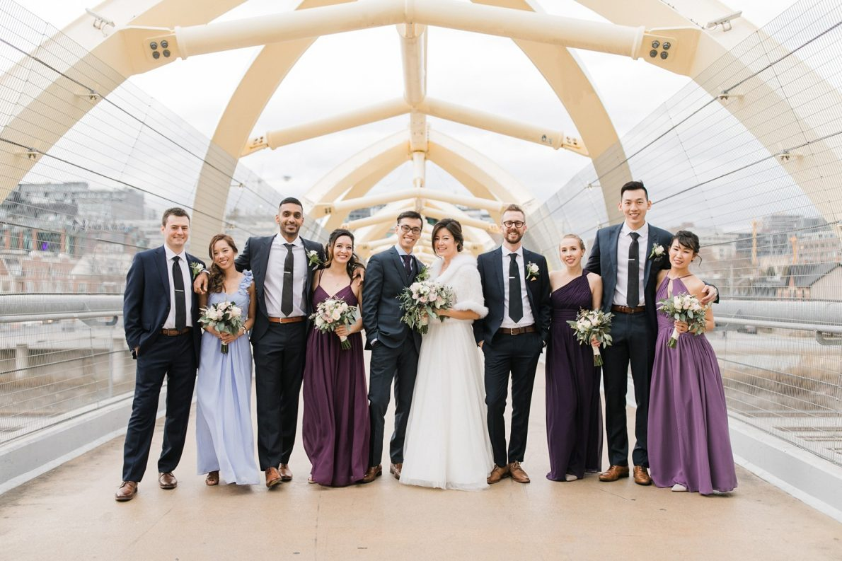 Wedding Party Photos at Downtown Toronto Wedding Photographer