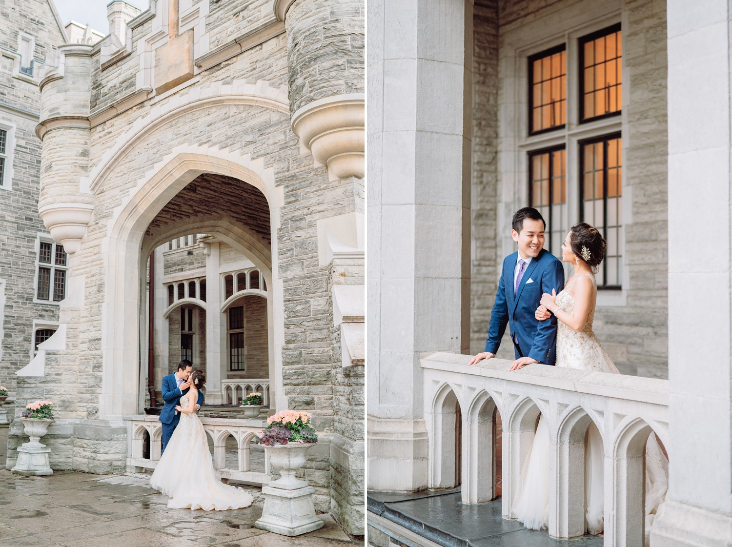 Bride and Groom at Castle Casa Loma Wedding Toronto Wedding Photographer