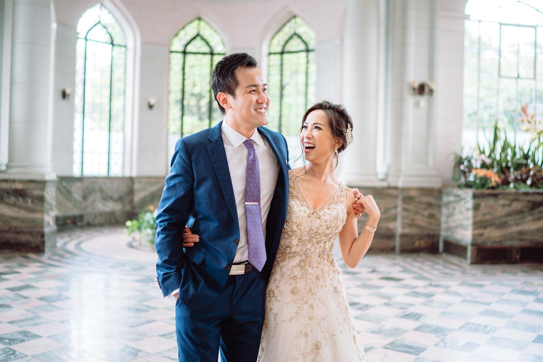 Bride and Groom at Castle Observatory Casa Loma Wedding Toronto Wedding Photographer