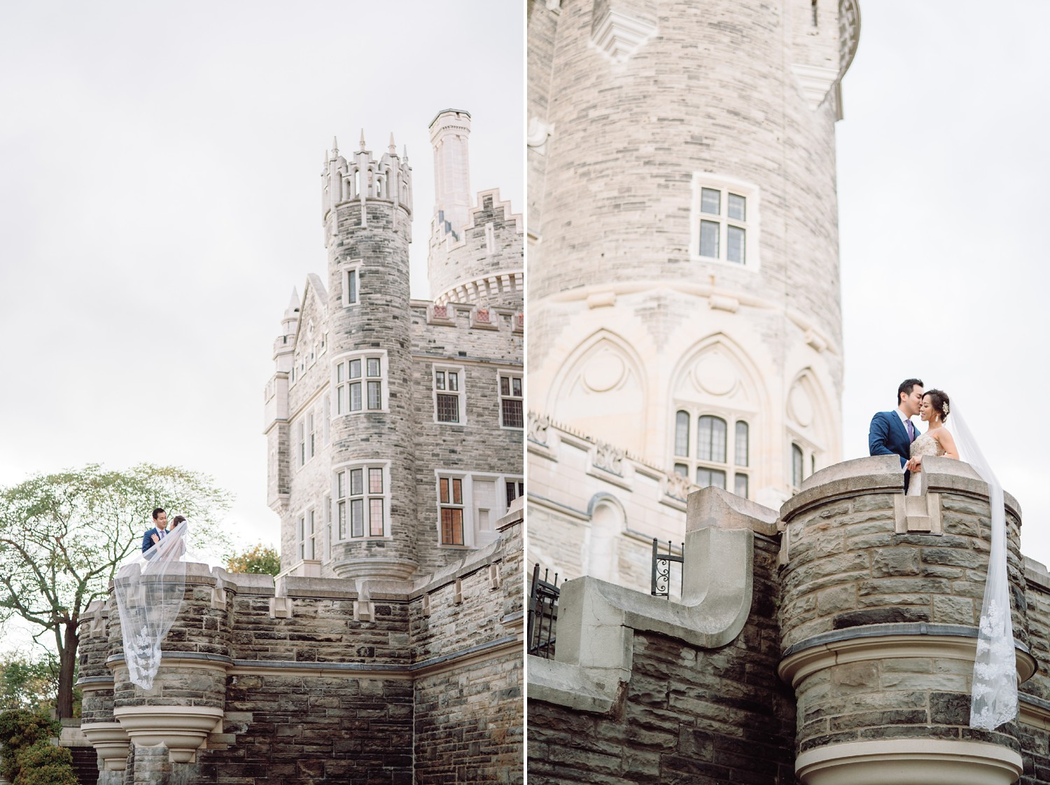 Epic Bride and Groom at Castle Casa Loma Wedding Toronto Wedding Photographer