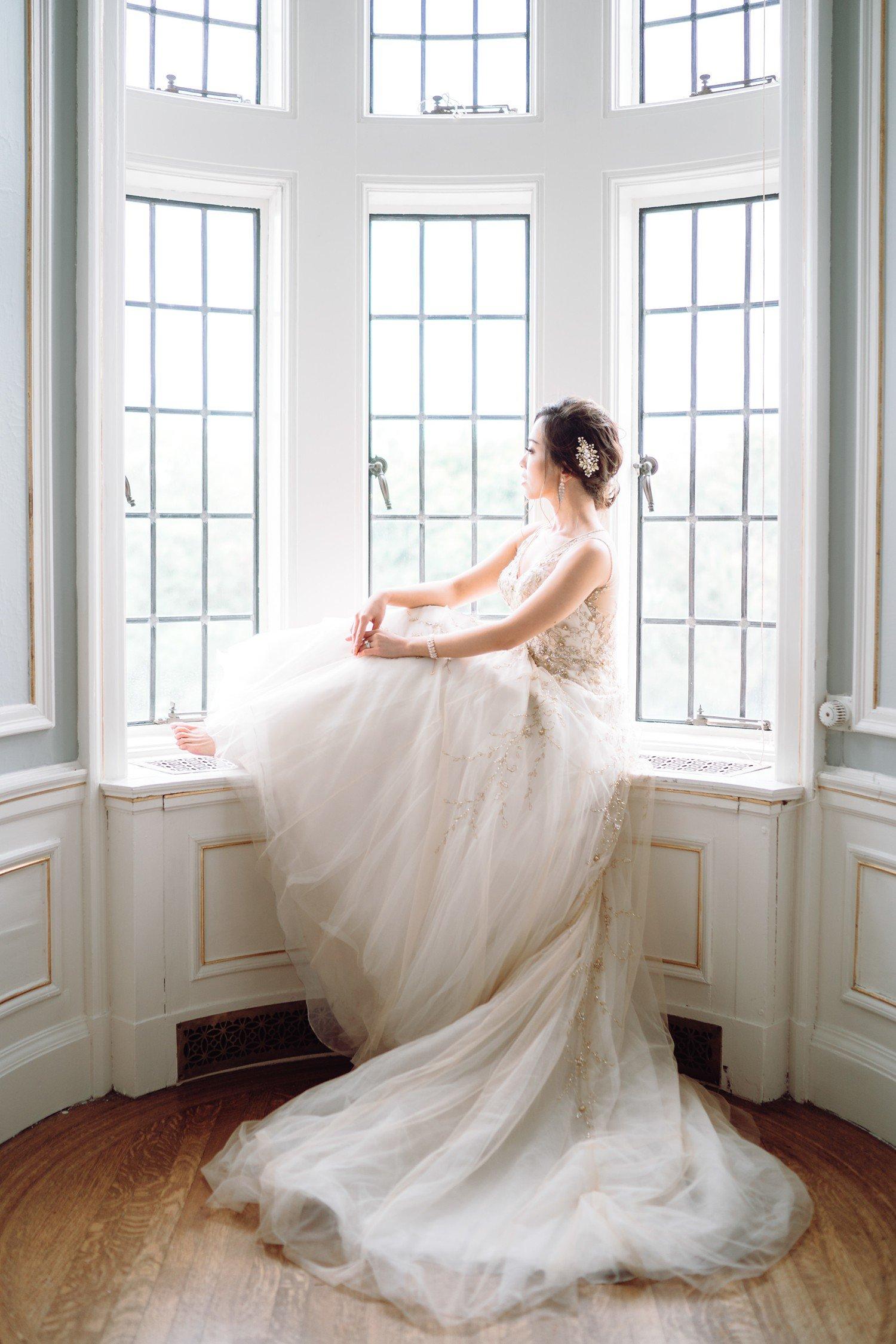Bridal Suite with Bride at Castle Casa Loma Wedding Toronto Wedding Photographer
