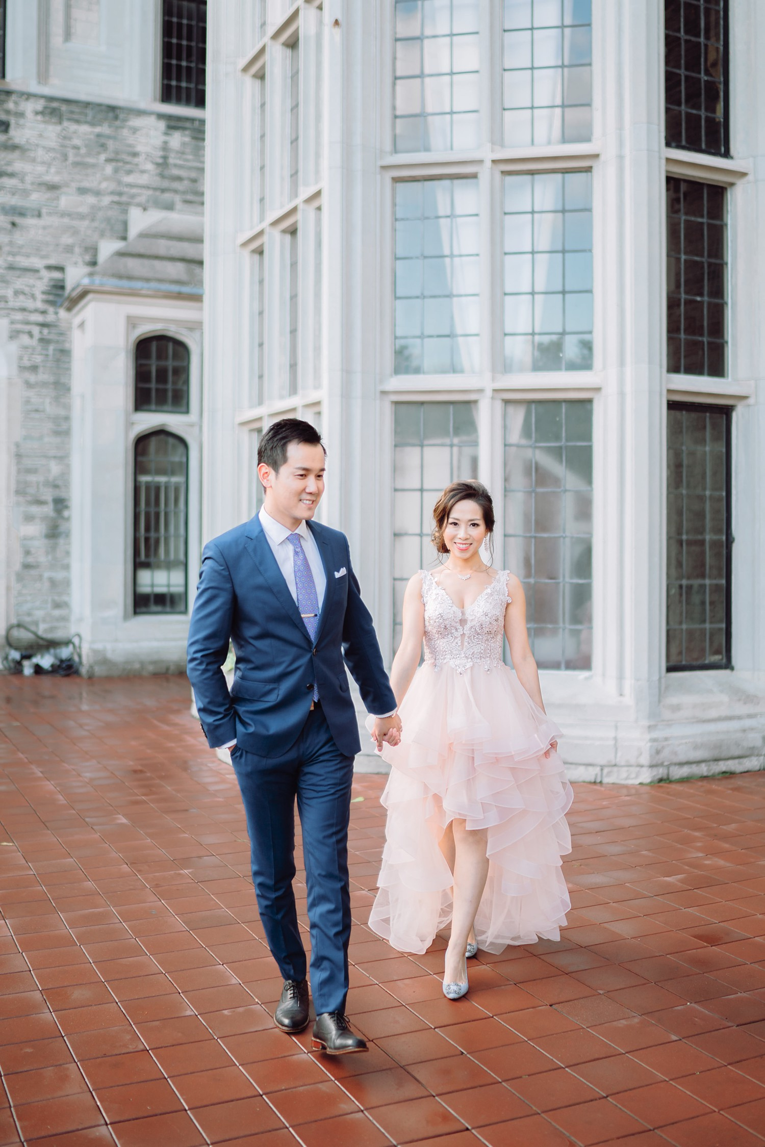 Pre-Wedding Bride and Groom at Castle Casa Loma Wedding Toronto Wedding Photographer