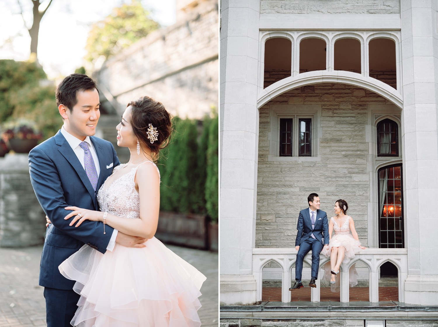 Chinese Bride and Groom at Castle Casa Loma Wedding Toronto Wedding Photographer