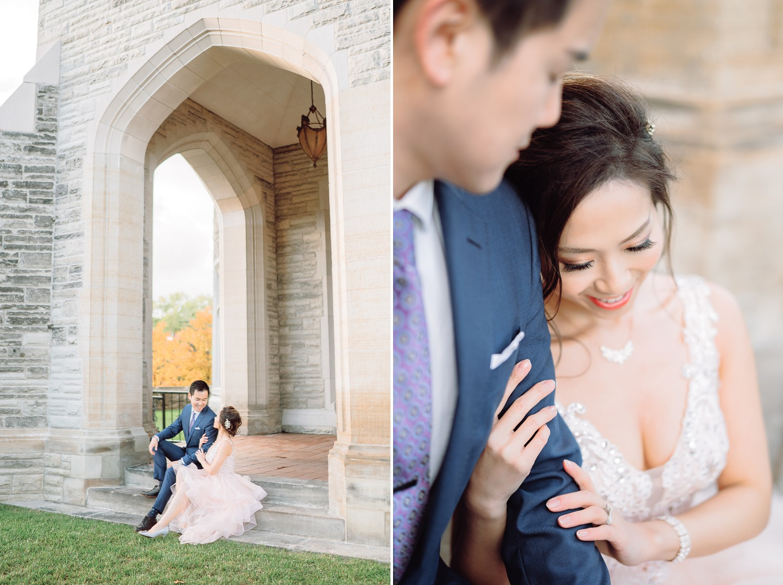 Bride and Groom at Castle Casa Loma Wedding Toronto Wedding Photographer