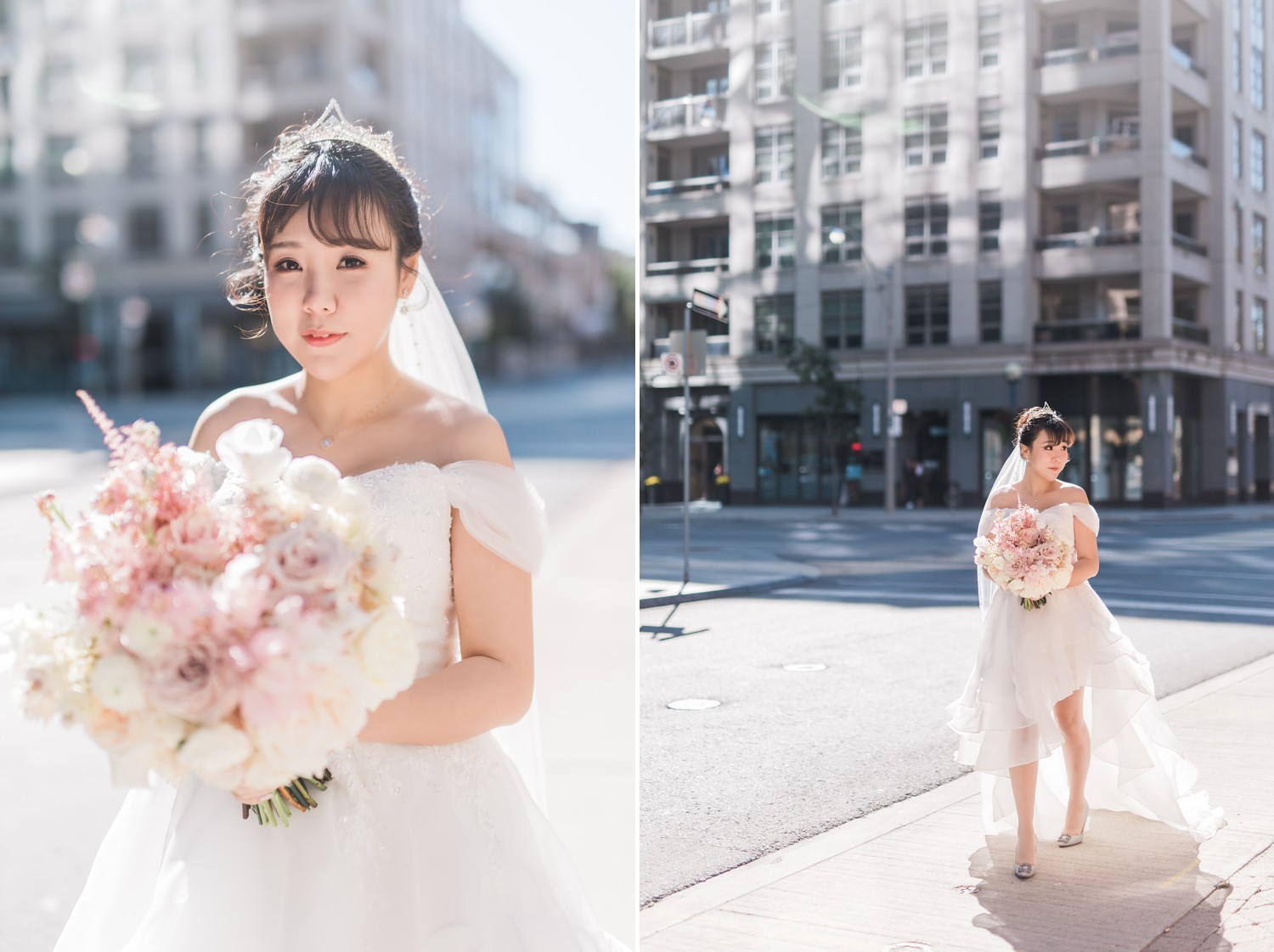 Bridal Portraits at Luxury Yorkville Vinci Toronto Four Season Hotel Wedding Photos with Chinese Bride and Groom