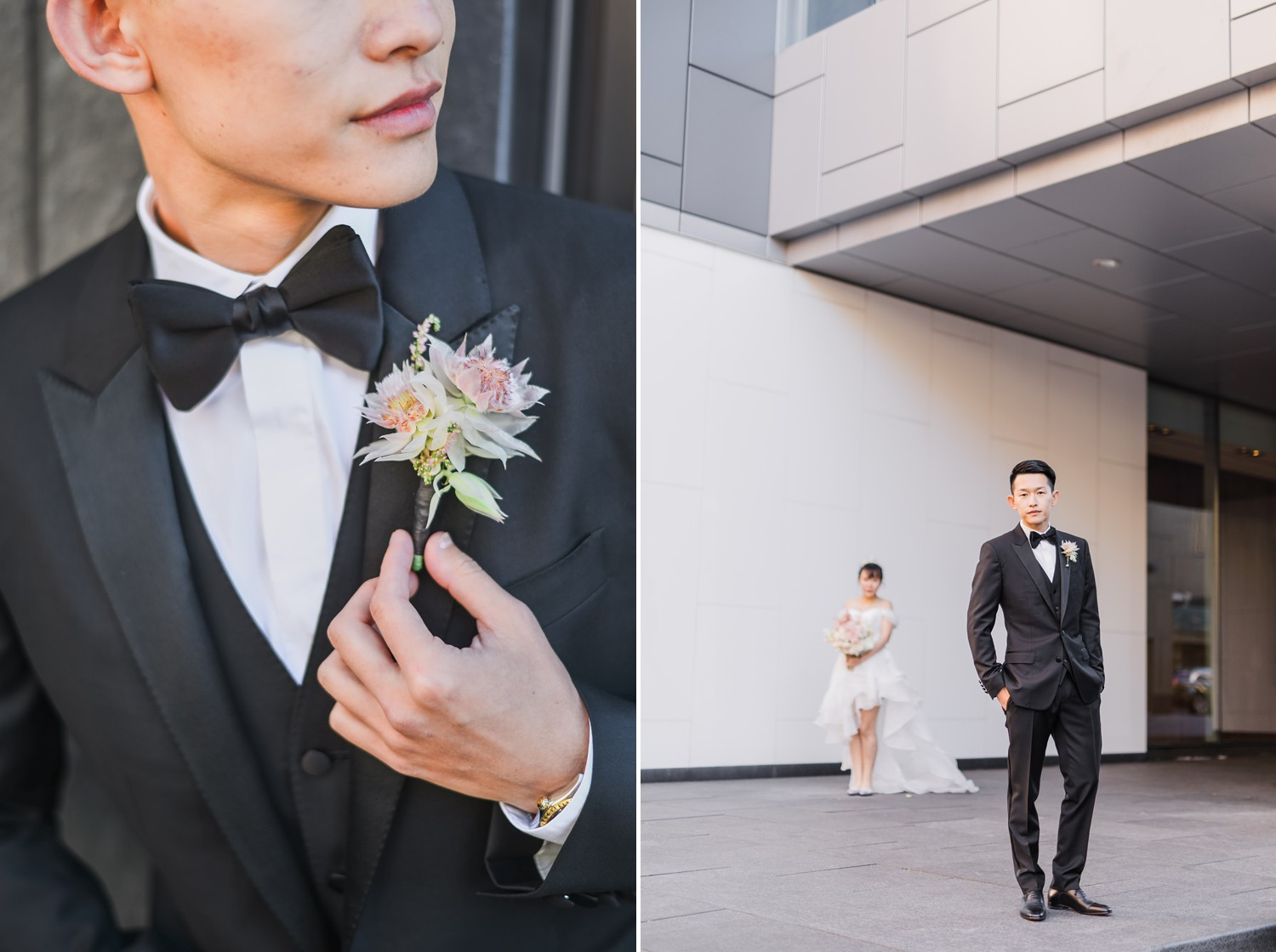 Elegant Wedding Portraits at Luxury Yorkville Vinci Toronto Four Season Hotel Wedding Photos with Chinese Bride and Groom