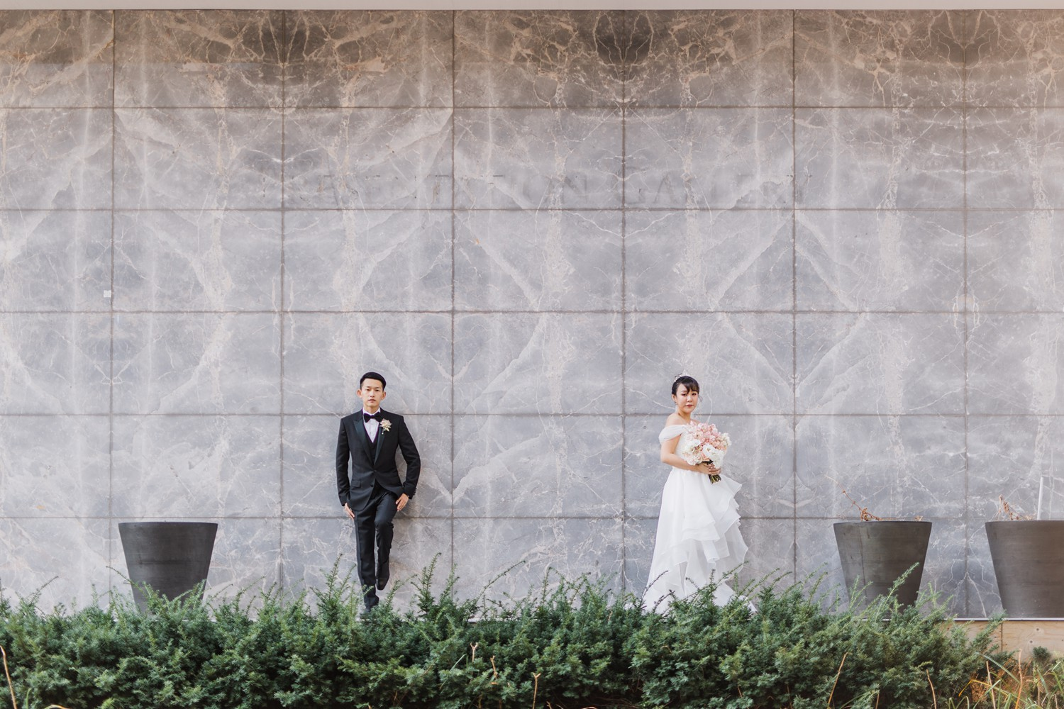 Modern Wedding Portraits at Luxury Yorkville Vinci Toronto Four Season Hotel Wedding Photos with Chinese Bride and Groom