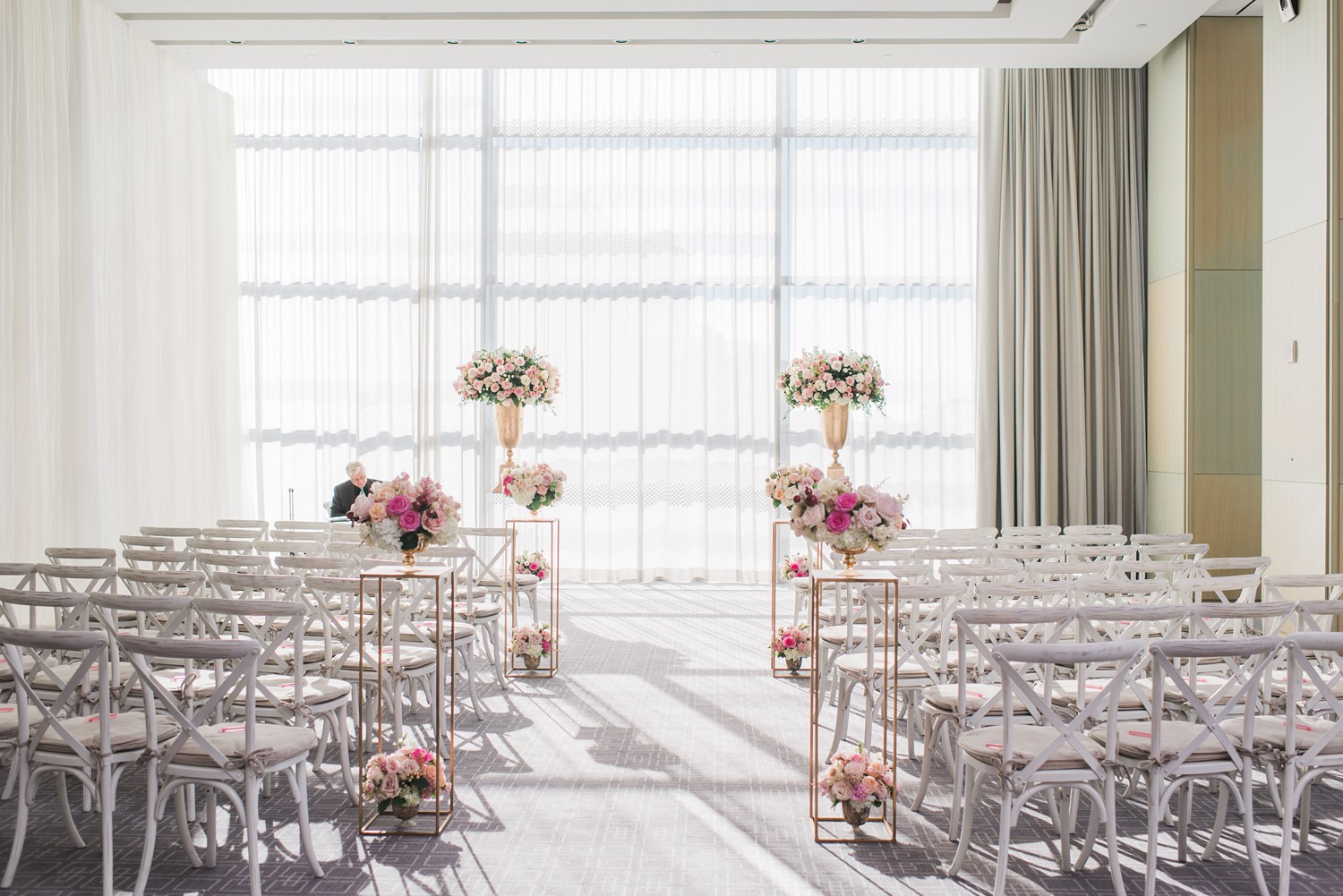 Wedding Ceremony Vinci Room Luxury Yorkville Toronto Four Season Hotel Wedding Photos with Chinese Bride and Groom