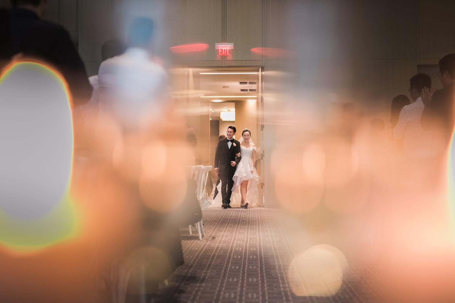 Wedding Reception Entrance Vinci Room Luxury Yorkville Toronto Four Season Hotel Wedding Photos with Chinese Bride and Groom