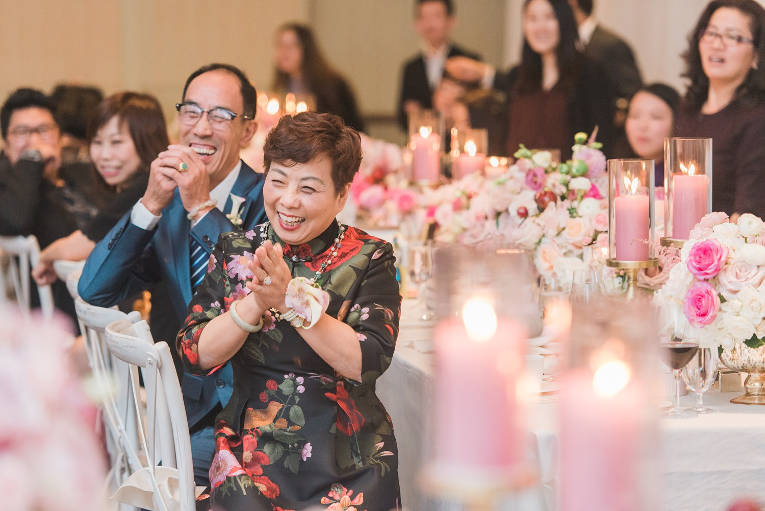 Parents of the Groom Vinci Room Luxury Yorkville Toronto Four Season Hotel Wedding Photos with Chinese Bride and Groom