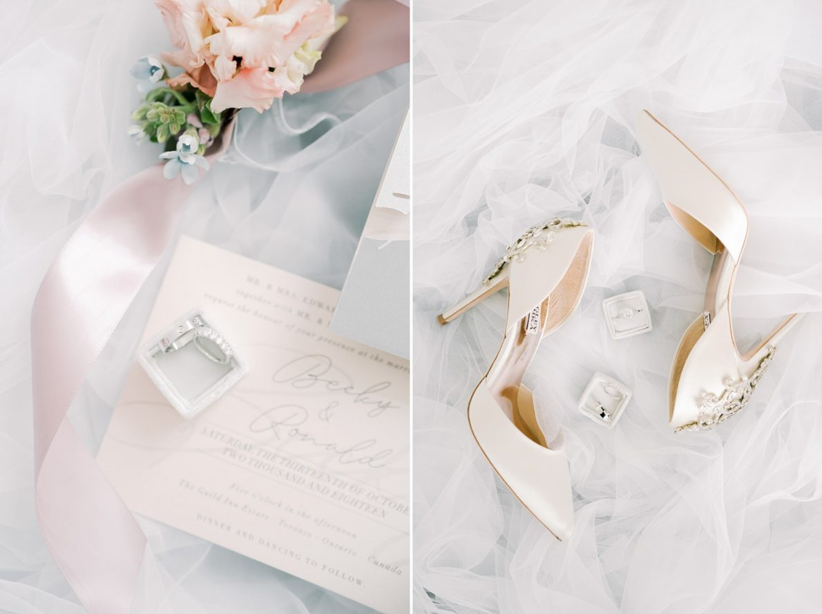 Wedding Invitations and Luxury Shoes Hong Kong Modern Guild Inn Wedding Photos