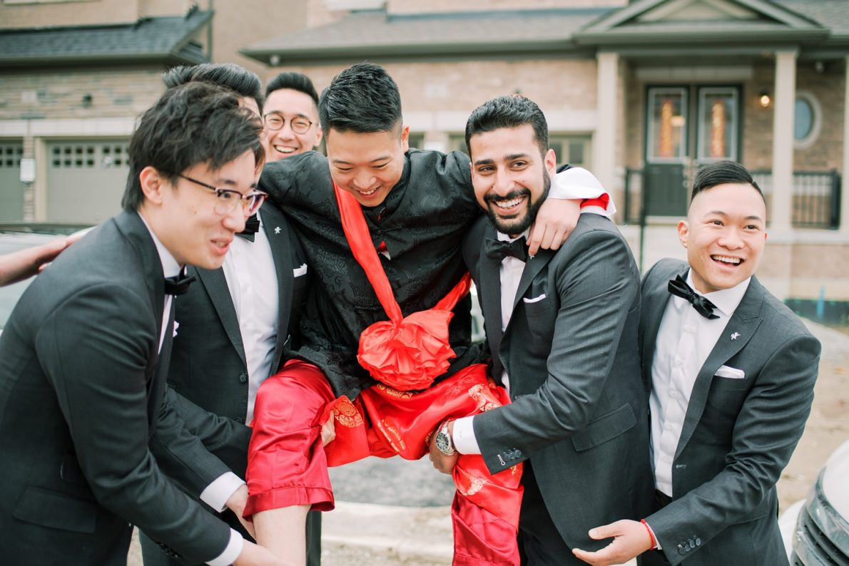 Groom and Groomsmen Hong Kong Modern Guild Inn Wedding Photos
