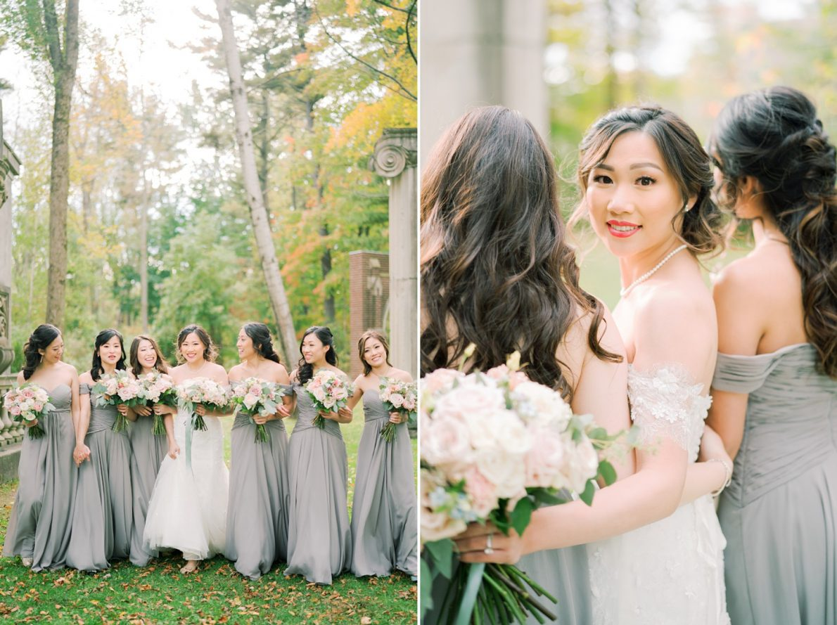 Bridesmaids in Forest Hong Kong Modern Guild Inn Wedding Photos