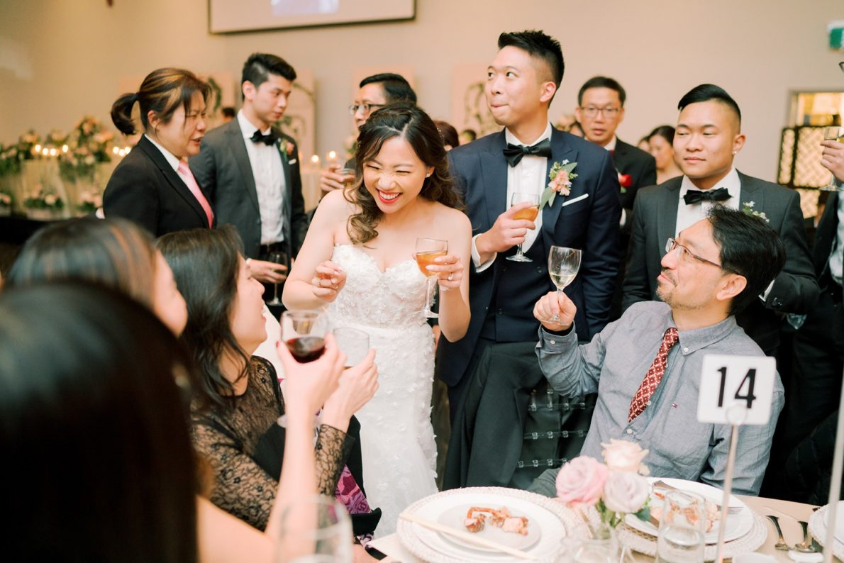 Table Toasting Hong Kong Modern Guild Inn Wedding Photos