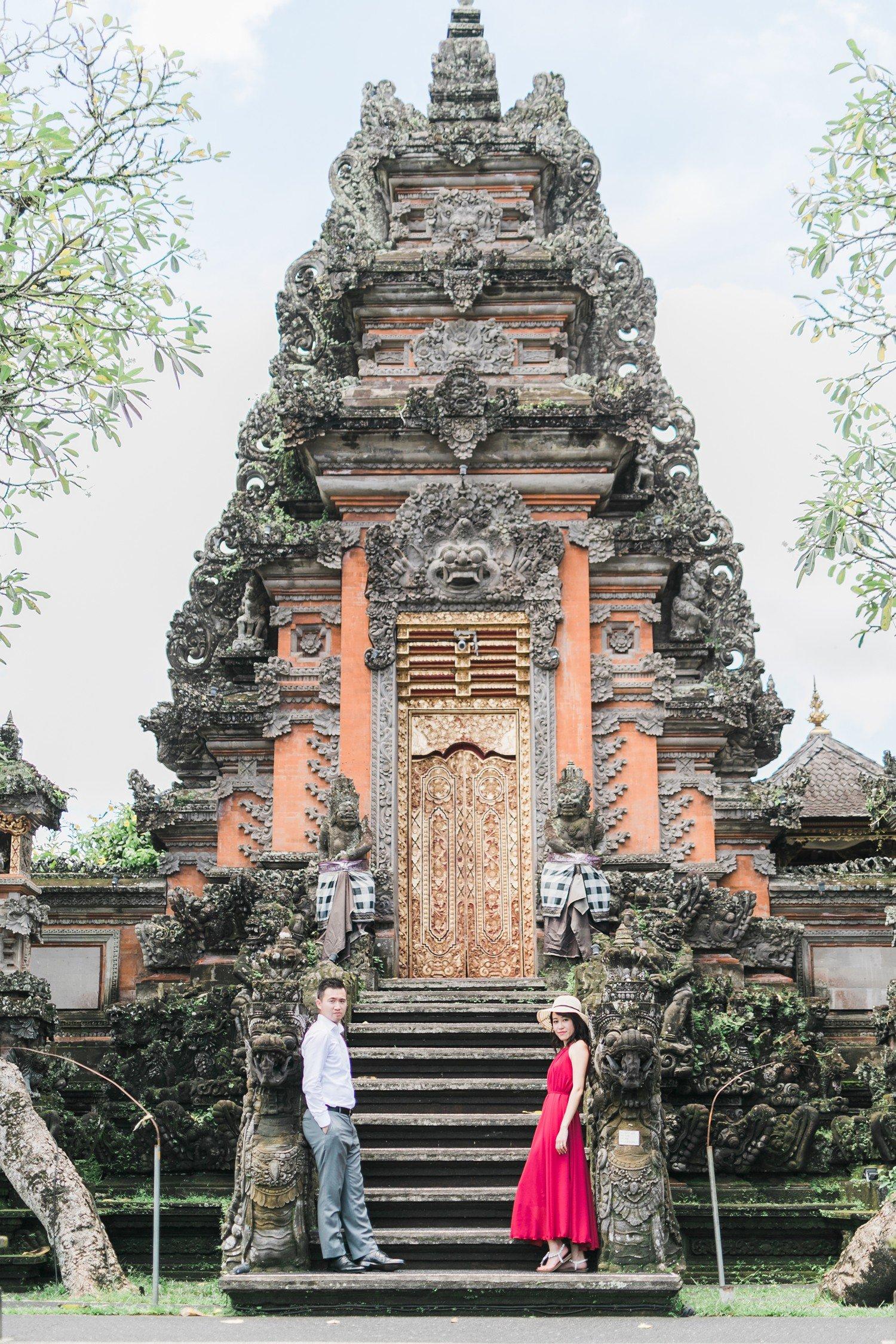 Bali Indonesia Saraswati Temple Ubud Destination Wedding Photos Rhythm Photography