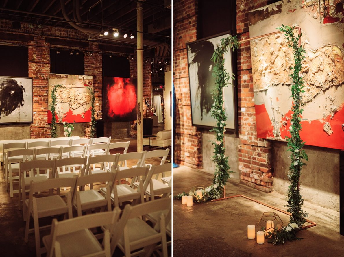Indoor_Ceremony_Art_Gallery_Distillery_District_Thompson_Landry_Gallery_Toronto_Wedding_Photos-Rhythm_Photography