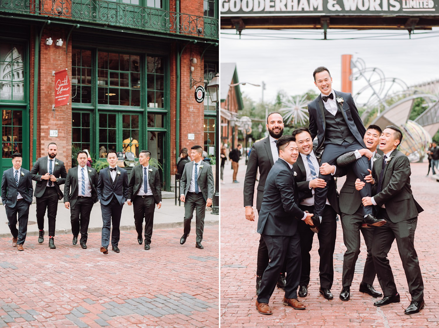 Groomsmen_Archeo_Distillery_District_Wedding_Photos_Toronto_Destination_Wedding_Photographer-Rhythm_Photography