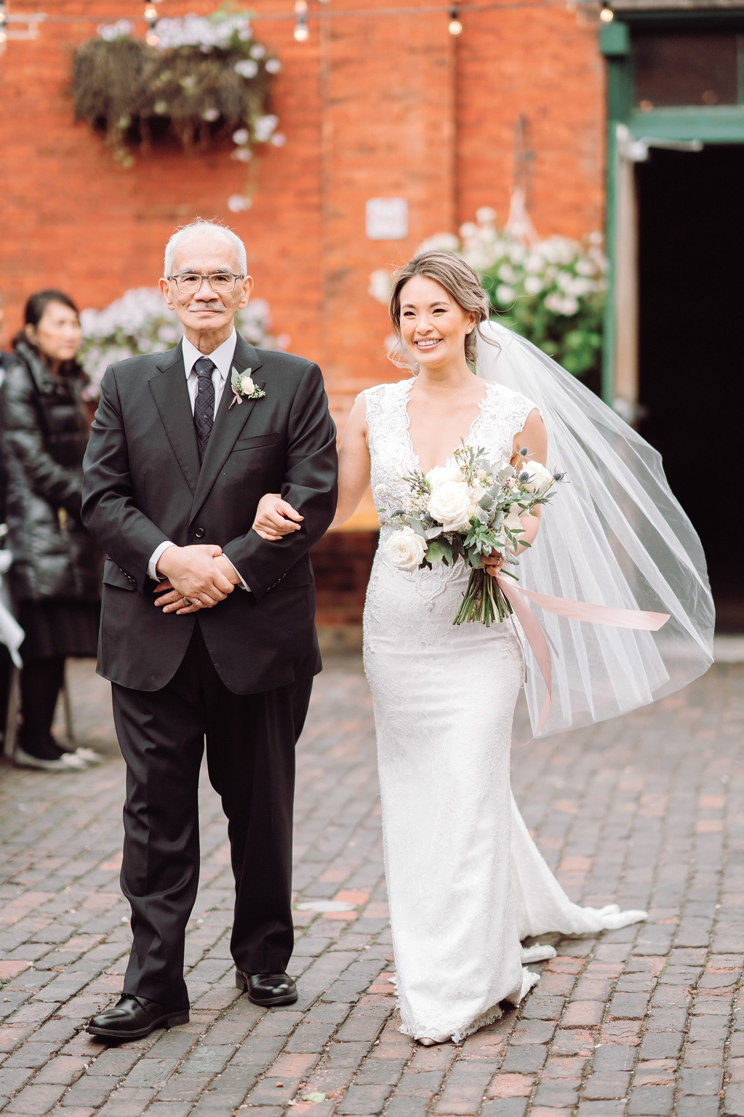 Walking_Down_Aisle_Archeo_Distillery_District_Wedding_Photos_Toronto_Destination_Wedding_Photographer-Rhythm_Photography