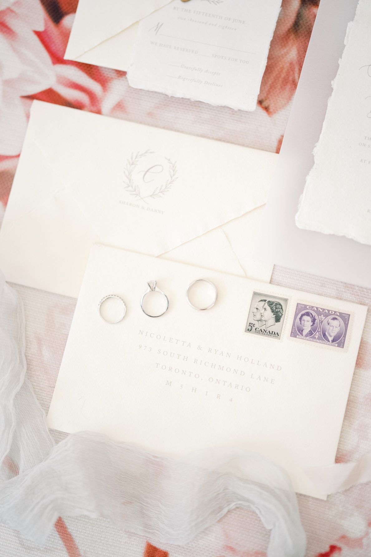 Vintage_Stamps_Invitations_Calligraphy-Wedding-Stationary-Ivory_and_Twine-Rhythm_Photography