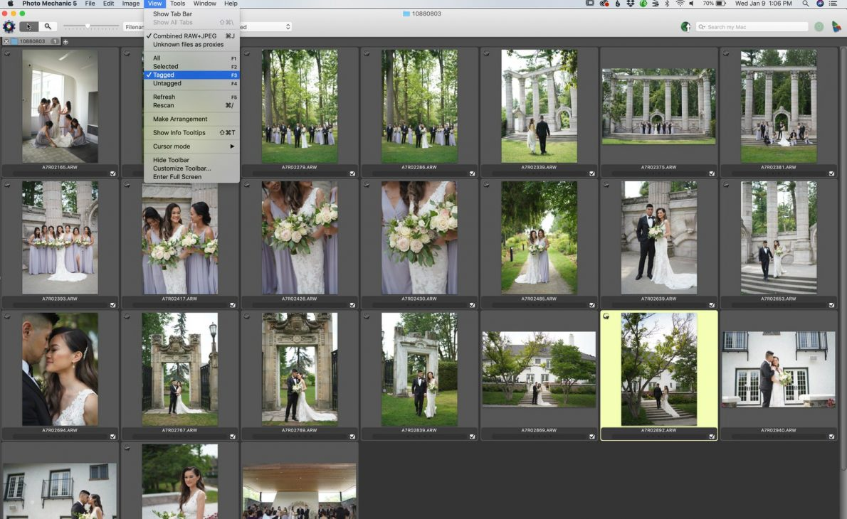 Toronto Wedding Photographer using PhotoMechanic Tutorial Education