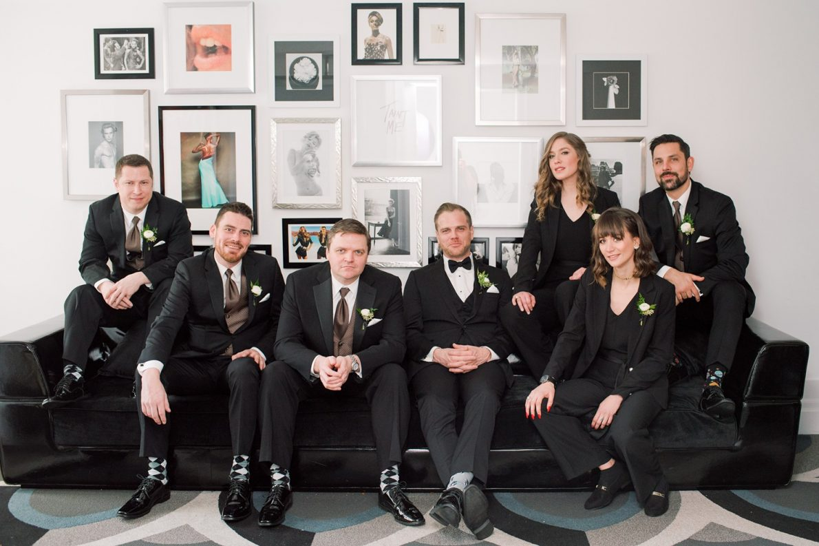 Bisha Hotel Groomsmen Downtown Financial District Winter Canoe Restaurant Toronto Wedding Photos-Rhythm_Photography