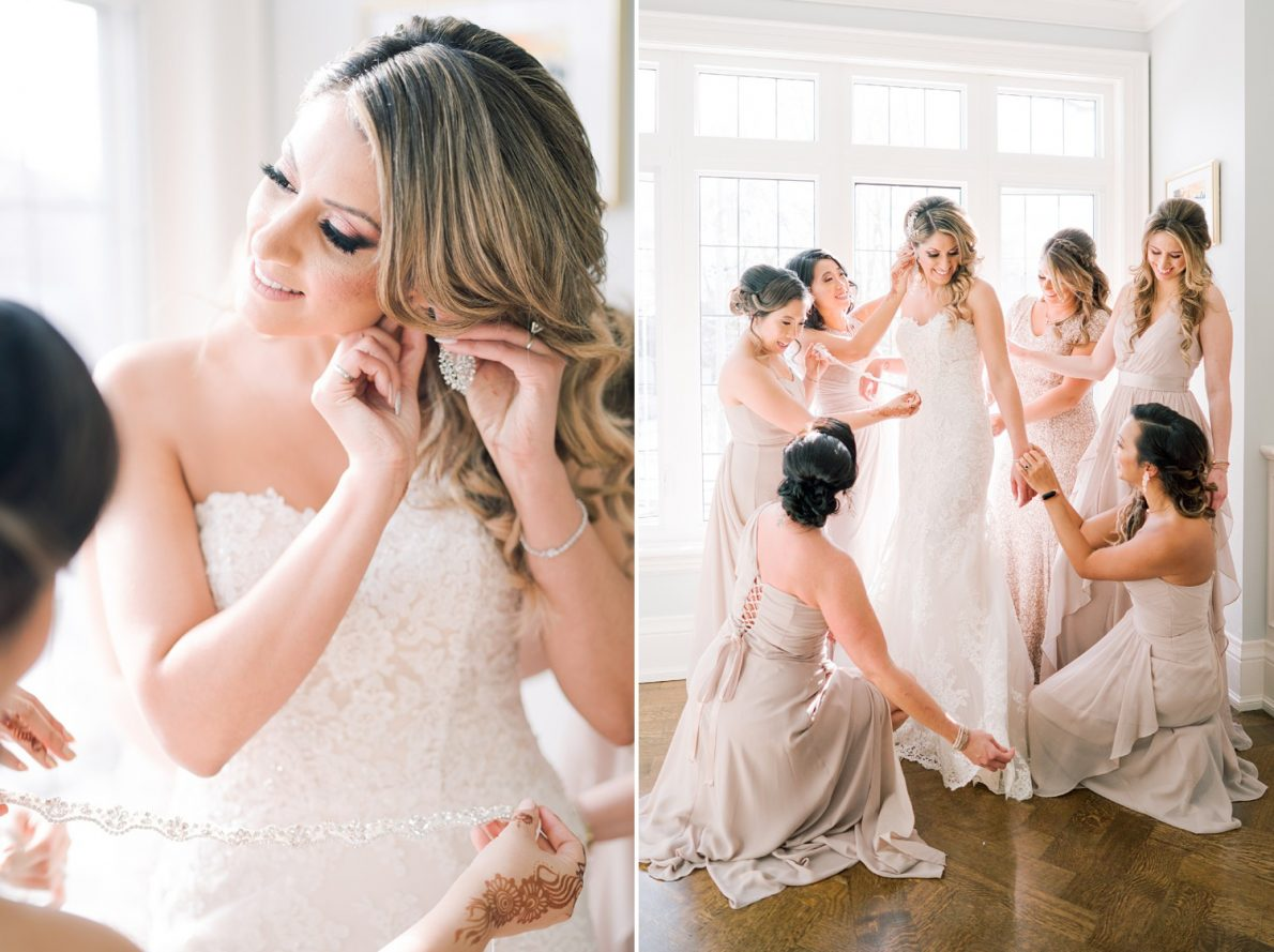 Bride Getting Ready Downtown Financial District Winter Canoe Restaurant Toronto Wedding Photos-Rhythm_Photography