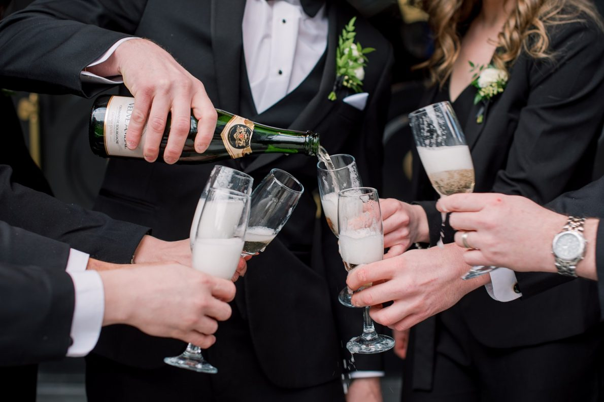 Bisha Hotel Groomsmen Champagne Downtown Financial District Winter Canoe Restaurant Toronto Wedding Photos-Rhythm_Photography
