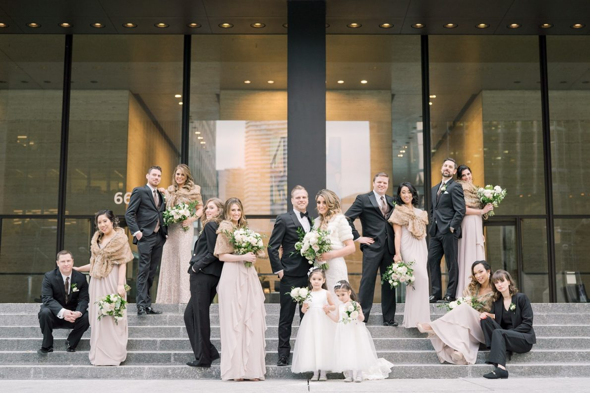 Wedding Party TD Towers Downtown Financial District Winter Canoe Restaurant Toronto Wedding Photos-Rhythm_Photography