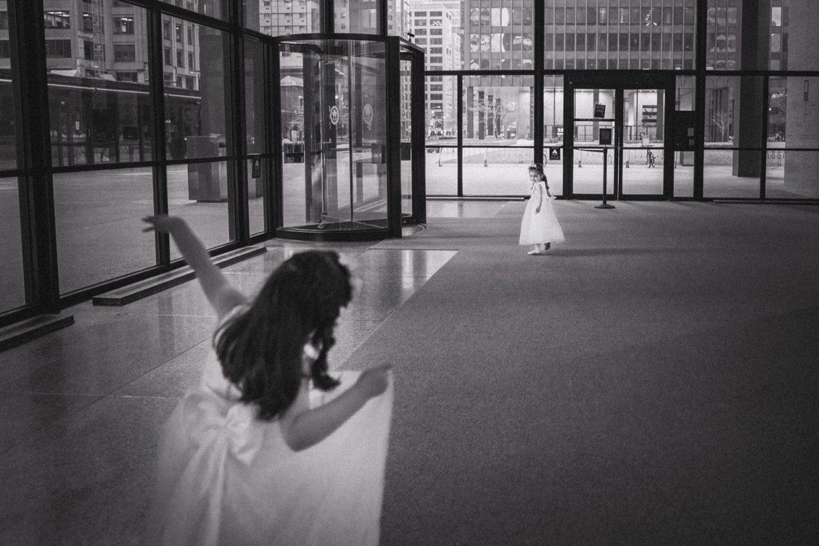 Flower Girls Downtown Financial District Winter Canoe Restaurant Toronto Wedding Photos-Rhythm_Photography