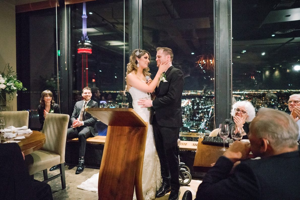 Thank you Speech at Downtown Financial District Winter Canoe Restaurant Toronto Wedding Photos-Rhythm_Photography