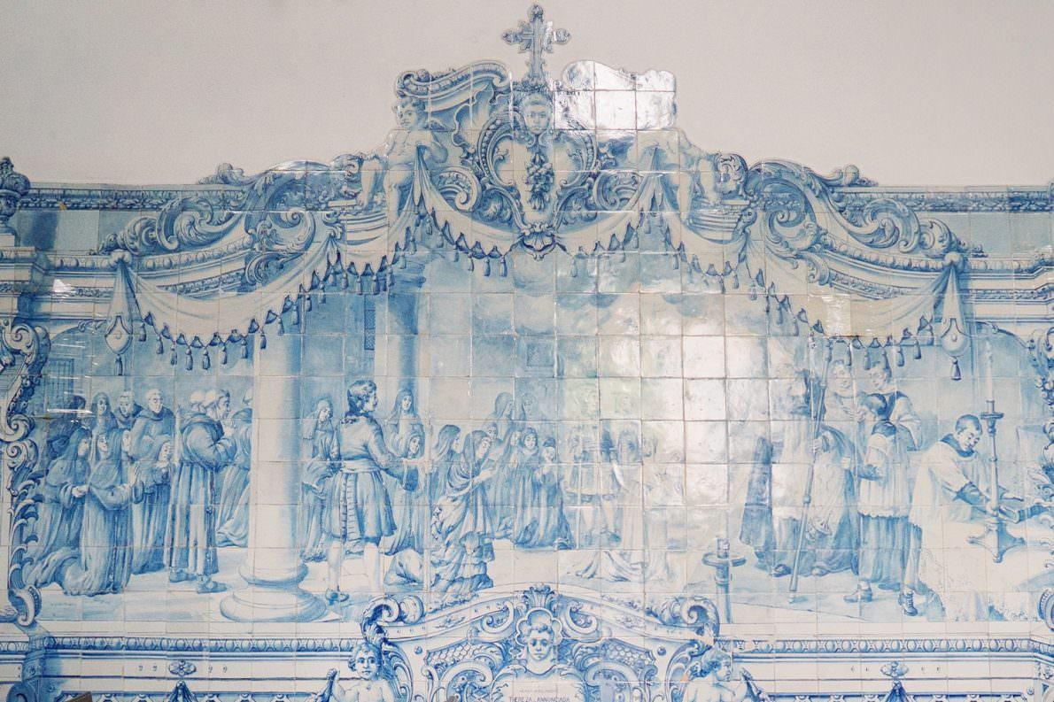 Church Tiles Ponta Delgada Azores Portugal