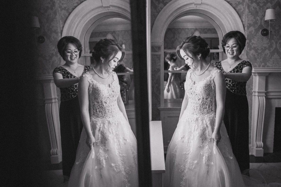 Mom and Daughter at Estates of Sunnybrook McLean House Toronto Wedding Photos