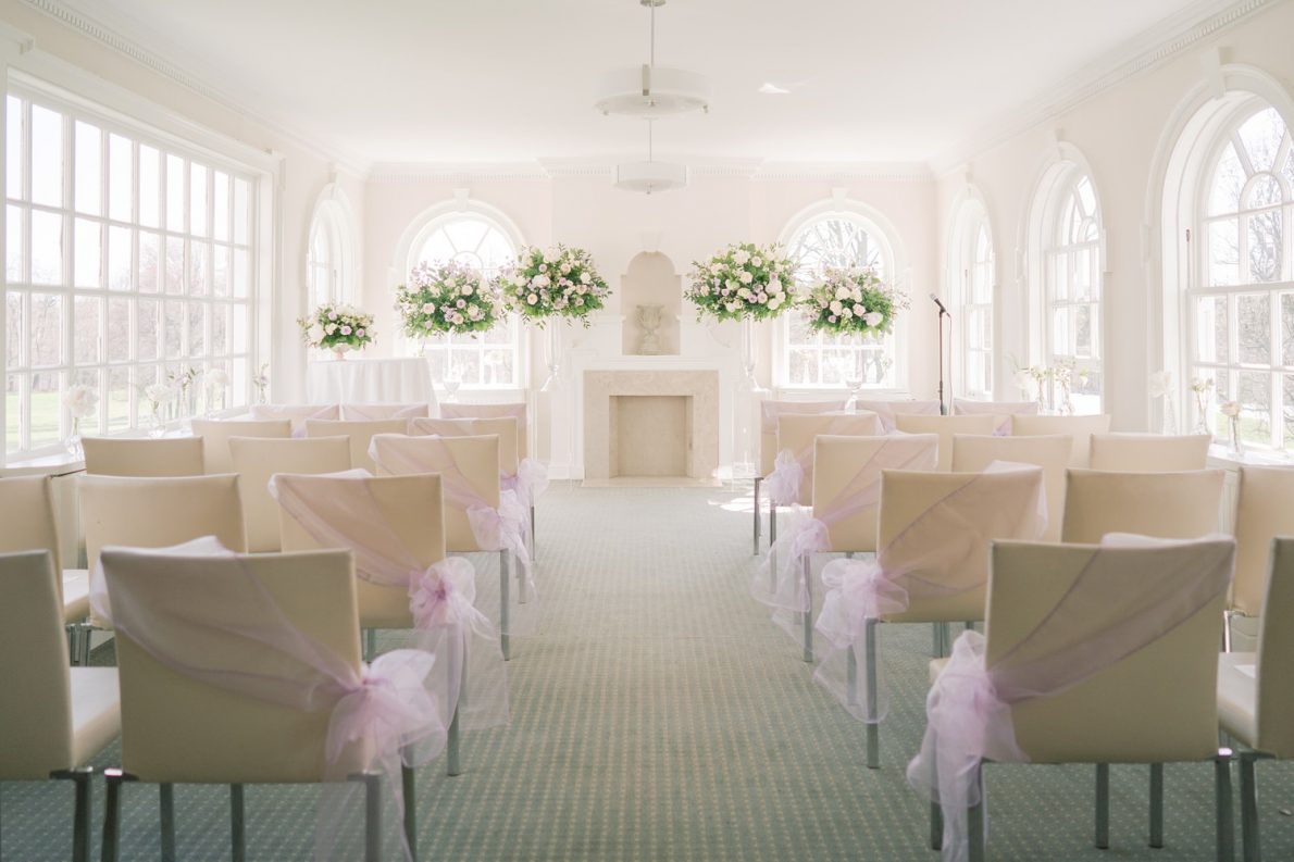 Bayview Room ceremony details Estates of Sunnybrook McLean House Toronto Wedding Photos