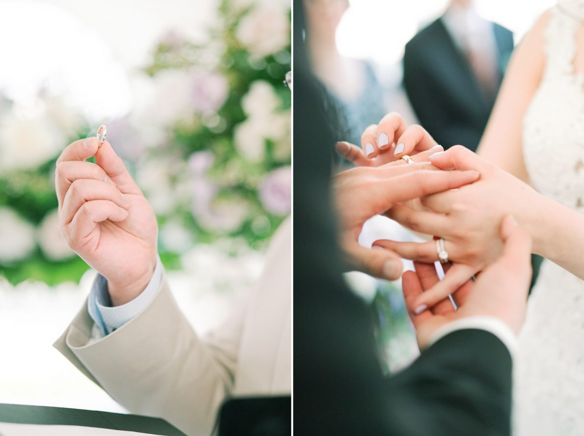 Ring exchange at Estates of Sunnybrook McLean House Toronto Wedding Photos