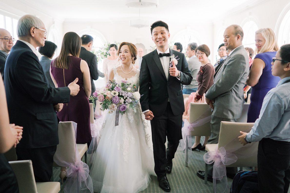Ceremony recession Estates of Sunnybrook McLean House Toronto Wedding Photos