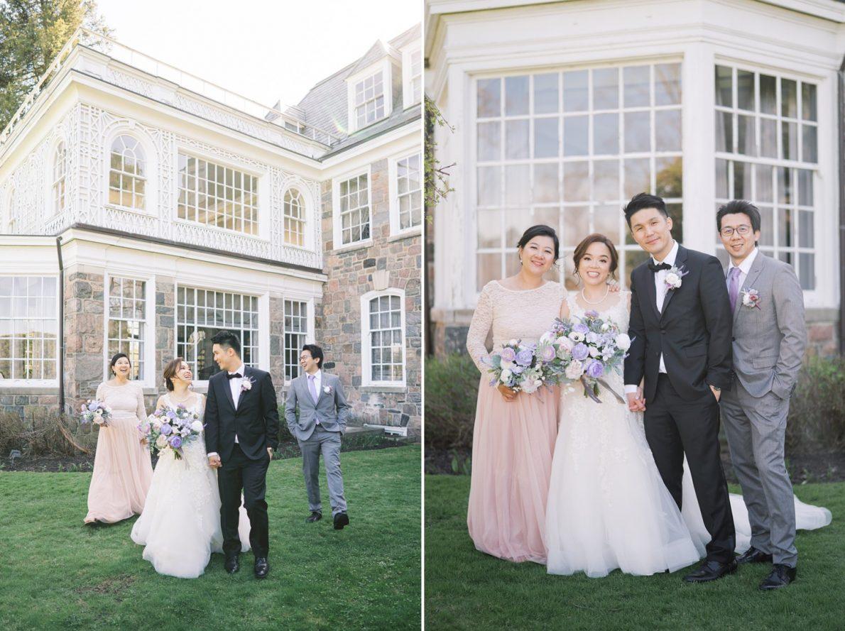 Wedding party outdoor portraits in Estates of Sunnybrook McLean House Toronto Wedding Photos