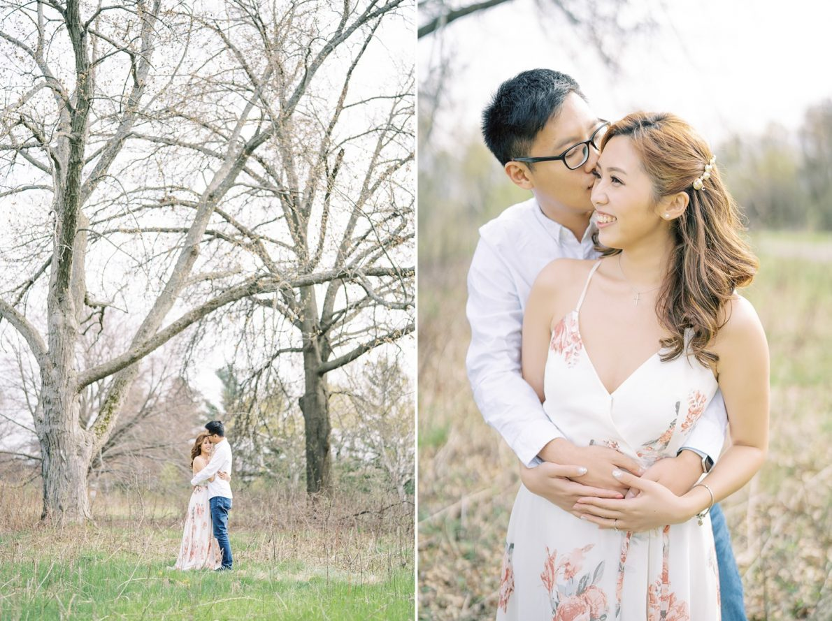 Sprint photography with chinese couple at David Dunlap Observatory Toronto Engagement Photos