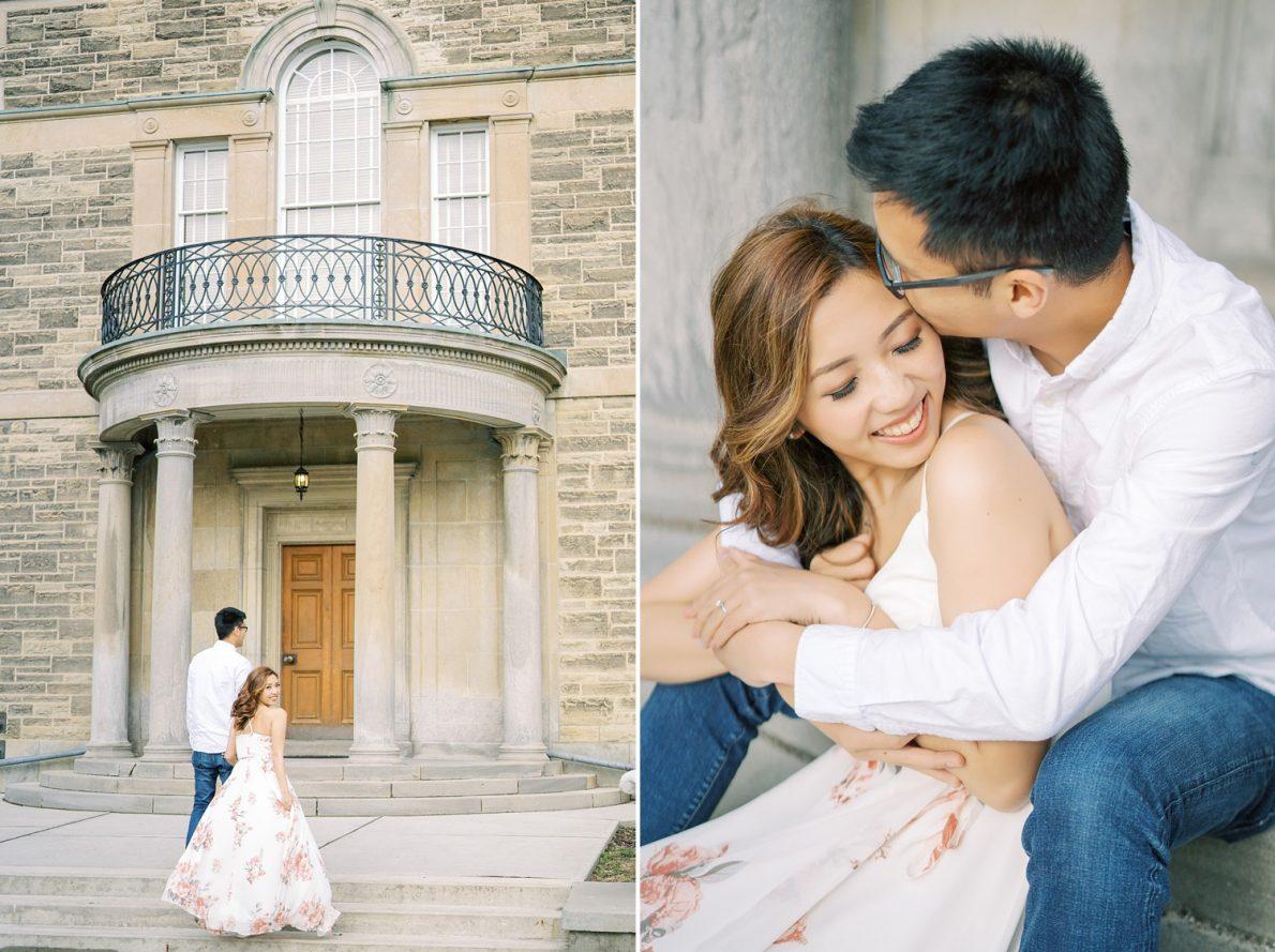 Hong Kong bride and groom David Dunlap Observatory Toronto Engagement Photos