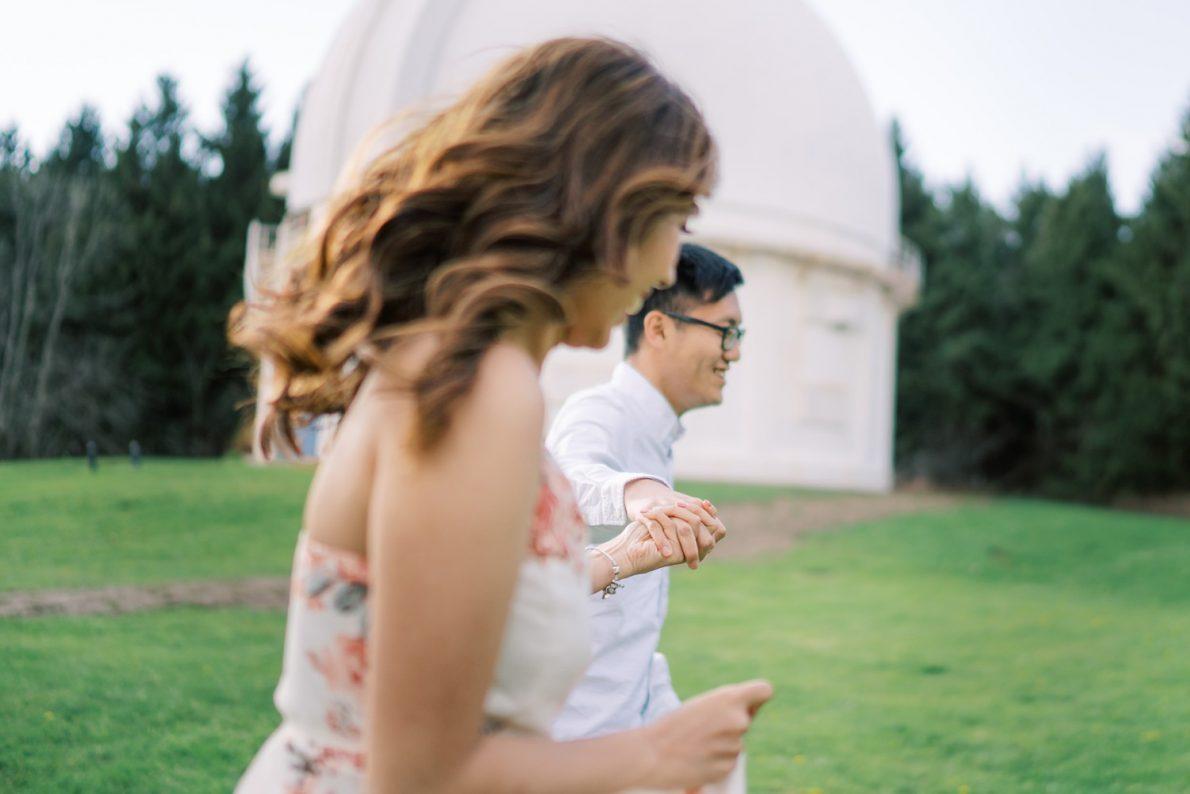 David Dunlap Observatory happy couple Toronto Engagement Photos