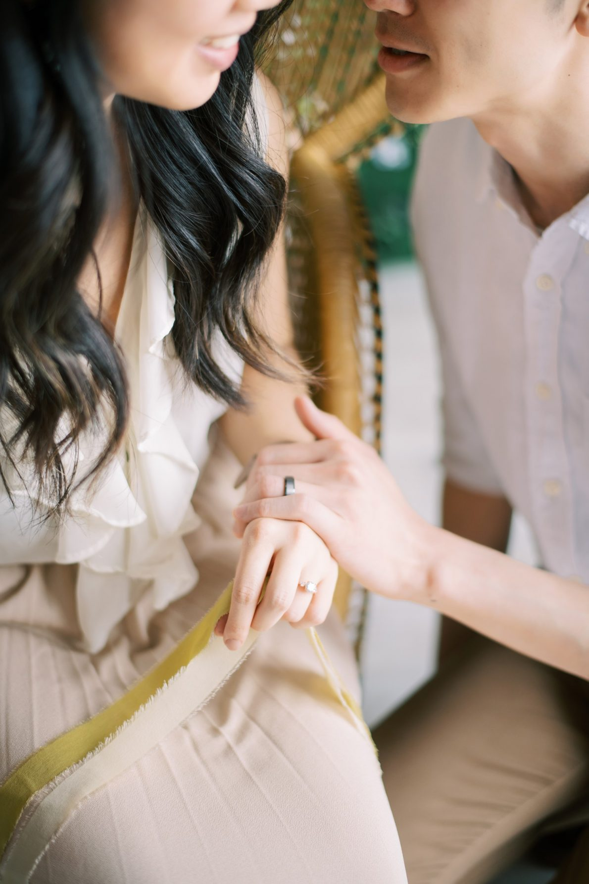 Bright and airy Mint Room Studio Nest Room Toronto Engagement Photos