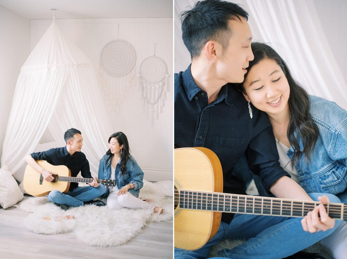 Dreamy photoshoot at Mint Room Studio Nest Room Toronto Engagement Photos