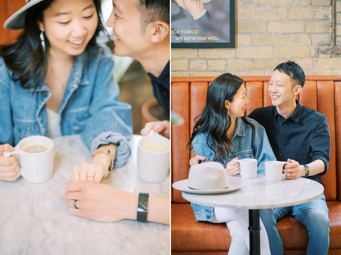 Balzacs Coffee Toronto Engagement Photos