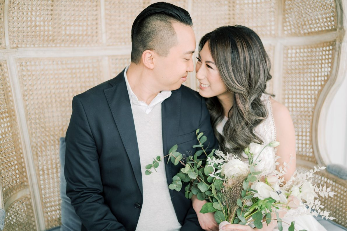 Bright and Airy Dreamy Toronto Engagement Photos Mint Room Studio Conservatory