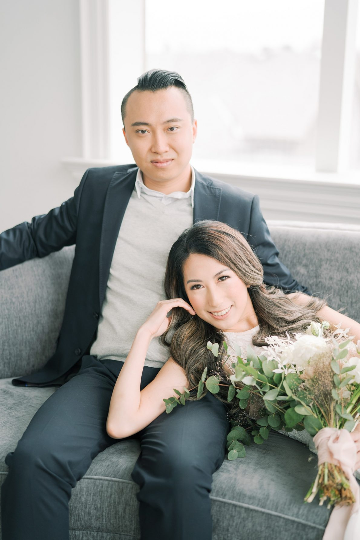 Modern, Airy and Dreamy Toronto Engagement Photos Mint Room Studio Conservatory
